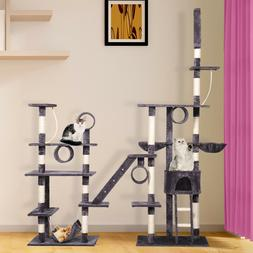 """103"""" H Large Pet Cat Tree Castle Play House Tower Condo Bed"""