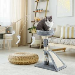 """26"""" Cat Tree Tower Furniture Kittens Pet with Teaser Scratch"""