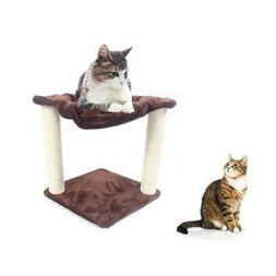 """16"""" Brown Pet Cat Tree Play House Tower Condo Bed Scratch Po"""