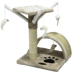 17'' Cat Tree Scratching Condo Furniture Scratch Post Pet Pl