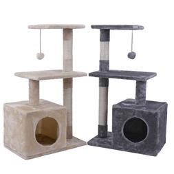 34'' Cat Tree Tower Condo Furniture Scratch Post Tree Kitty