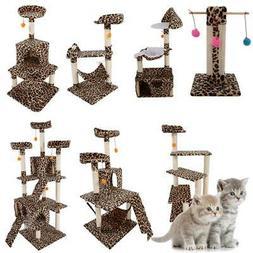 """20""""-72"""" Cat Tree Condo Scratching Post Pet House Toy Furnitu"""