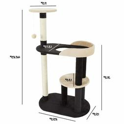 PETMAKER 3-Tier Cat Tree with Two Scratching Posts 4 resting