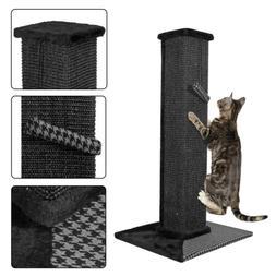 "32"" Sisal Scratching Post Cat Tree House Condo Tower Play Ki"
