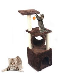 """36"""" Brown Pet Cat Tree Play House Tower Condo Bed Scratch Po"""