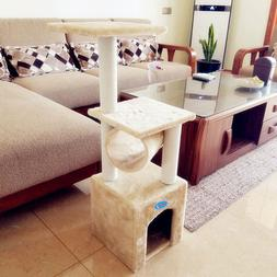 """36"""" Cat Tree Condo Furniture Kitten Pet Play W/Toy House Scr"""