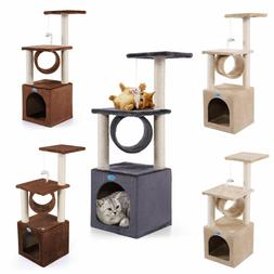 36'' Cat Tree House Condo Tower Scratching Post Pet Kitty Ac