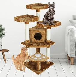 47 plush cat tree condo with 3
