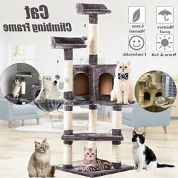 51'' Cat Tree Scratcher Cardboard Play House Condo Furniture
