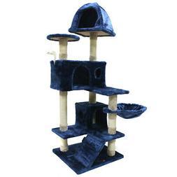 51'' inch Cat Tree Sisal Scratcher Condo Post Pet Tower Kitt