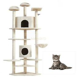 """52""""/60""""/36""""/80"""" Cat Tree Play House Tower Condo Furniture Sc"""