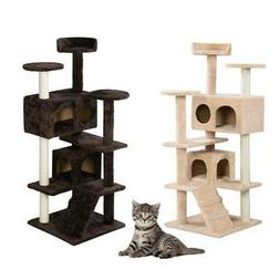 "52"" 60"" 80"" Cat Tree Tower Condo Furniture Scratch Post Tree"