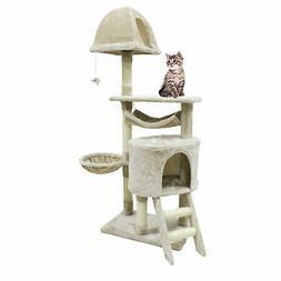 56 inch Cat Tree Sisal Scratcher Condo Post Pet Tower Kitty