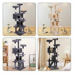 """60"""" Scratching Post Cat Tree House Condo Tower Play Kitty Cl"""