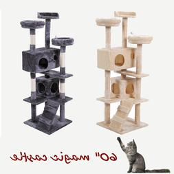 """60"""" Cat Tree Tower Condo Furniture Scratching Post Pet Kitty"""