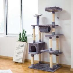 "60"" Cat Tree Tower Condo Scratch Post Pad Furniture Kitty Pe"