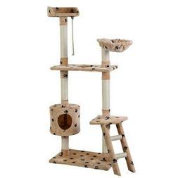 "60"" Cat Tree Tower Condo Scratcher Furniture Kitten Pet Hous"