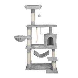 "62"" Cat Tree Condo Furniture Scratching Post Fur Ball Pet Ca"