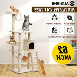 62In Cat Tree Condo Scratching House Pet Climbing Tower Hamm