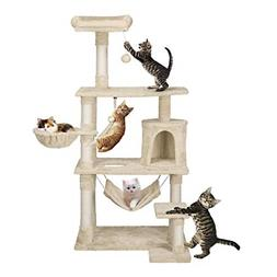Yaheetech 62in Extra Large Cat Tree Condo with Sisal-Covered