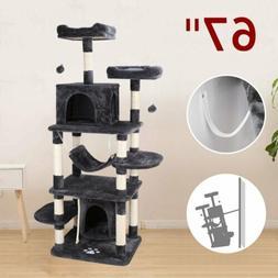 67'' Cat Tree House Pet Furniture, Multi-Level Activity Towe