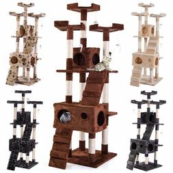"67"" Cat Tree Condo Tower Pet Kitty Play Climbing Furniture w"