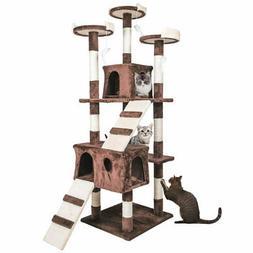 "68"" Cat Tree Condo Furniture Scratch Post Pet Play House Hom"