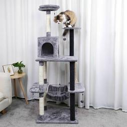 "69"" Cat Tree Condo Tower Pet Kitty Play Climbing Furniture w"