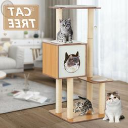 """72"""" Cat Tree Condo Climbing Tower Scratching Kitty House w/H"""