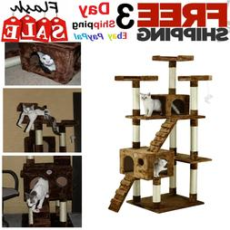 """72"""" Cat Tree Condo for Indoor Big Tower Giant Castle Large T"""