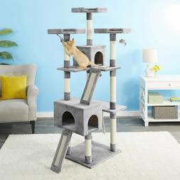 Frisco 72-in Faux Fur Cat Tree & Condo Free Shipping