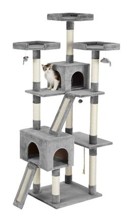 Frisco 72-in Faux Fur Cat Tree & Condo with 3 colors