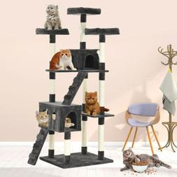 72'' inch Cat Tree Tower Condo Furniture Scratch Post Kitty