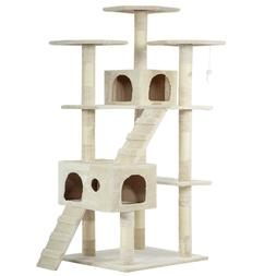 """73"""" Cat Tree Scratcher Play House Cat Condo Furniture Bed"""