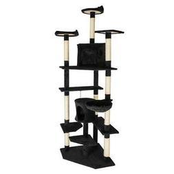 "80"" Cat Tree Pet Play House Cat Tower Condo Furniture Scratc"