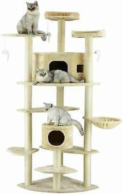 Go Pet Club 80-inch Condo House Cat Tree Scratcher