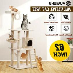 aug 62in cat tree condo scratching house