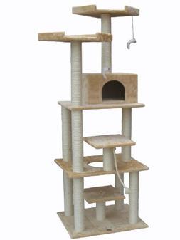 """Go Pet Club Beige 76"""" Cat Tree F2070"""