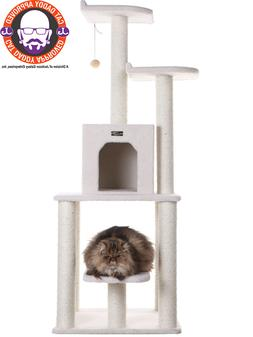 Armarkat 62 Inch Cat Tower with Sisal Posts