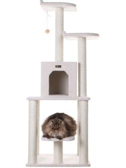 CAT TREE CONDO 62-Inch Scratching Post Tower Scratcher Loung