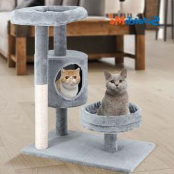 ScratchMe Cat Tree Condo & Hammock Scratching Post Cat Climb