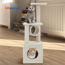 ScratchMe Cat Tree Condo Climbing Tower & Hammock Scratching