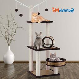 ScratchMe Cat Tree Condo Climbing Tower w/ Hammock Scratchin