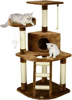 Go Pet Club Cat Tree Condo House, 32W x 25L x 47.5H Inches