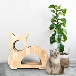 Cat Tree Furniture Kitten House Play Tower Scratcher Beige C