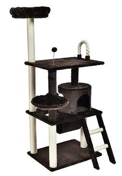 AmazonBasics Cat Tree Furniture - XX-Large, Dark Brown
