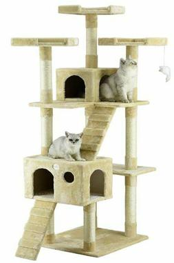 Cat Tree House Kitty Tower Furniture Scratching Post Condo B