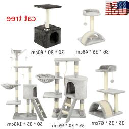 Cat Tree Kitty Play House Condo Furniture Tower Scratching P