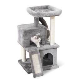 PAWZ Road Cat Tree Luxury Cat Tower with Double Condos, Spac
