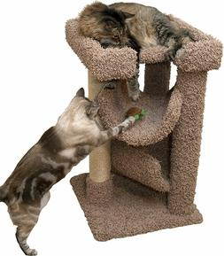 Cat Tree Mini 33 inch Cat Furniture Wood for Large Cats